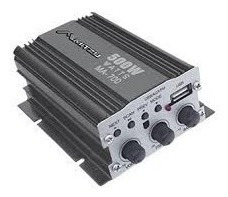 amplificador para moto 2 canales 500 w pmpo usb/rc/fm/negro