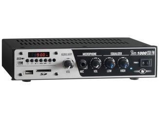 amplificador para som ambiente slim 1000 usb fm frahm