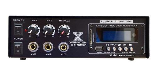 amplificador perifoneo ambiental bluetooth usb sd radio fm