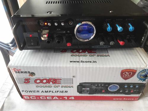 amplificador perifoneo usb  sd carros 5core