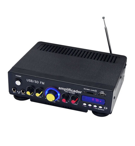 amplificador perifoneo usb y sd radiofm efectoeco 150w xaris