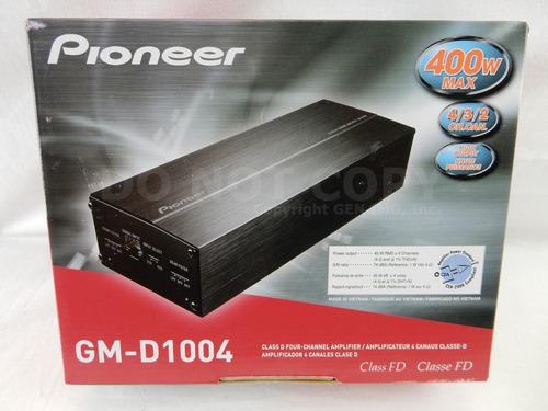 amplificador pioneer compacta de 4 canales, clase-fd