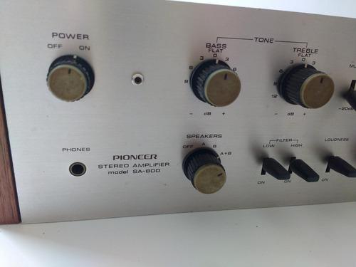 amplificador pioneer stereo amplifier model sa-800