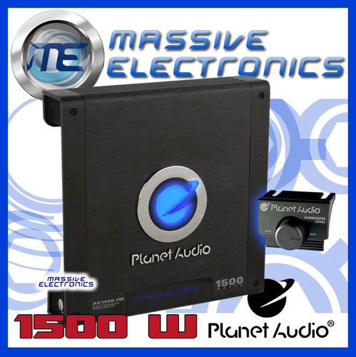 amplificador planet audio ac1500.1m 1500w anarchy 1 canal ch