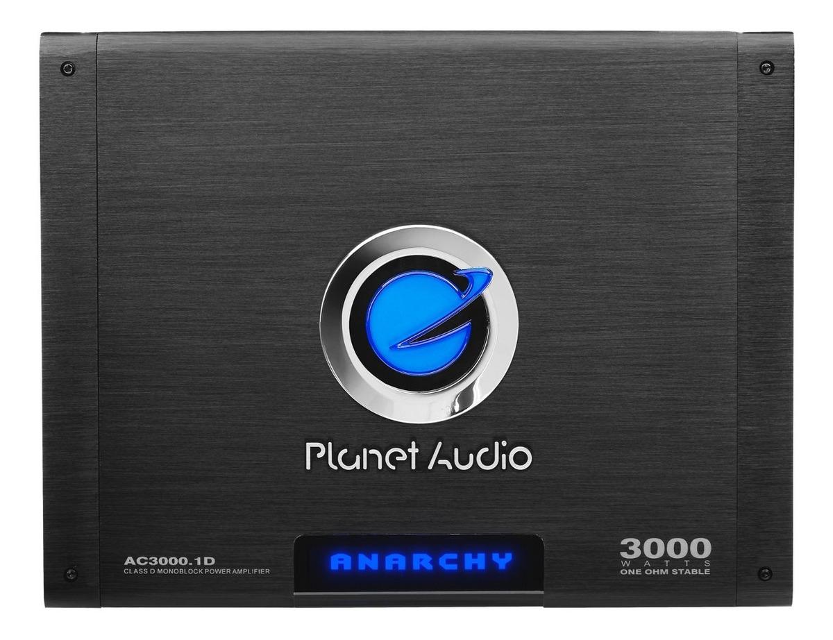 Planet Audio AC3000.1D 3000 con Max Clase D Monobloque Amplificador