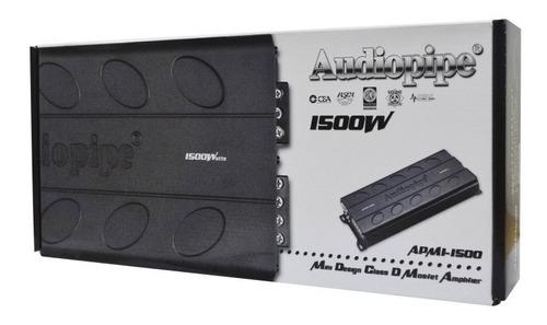 amplificador planta audiopipe apmi-1500 1500w clase d