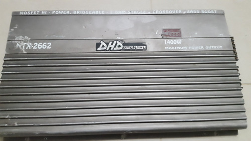 amplificador planta dhd 1400 watts power cruiser 6 canales