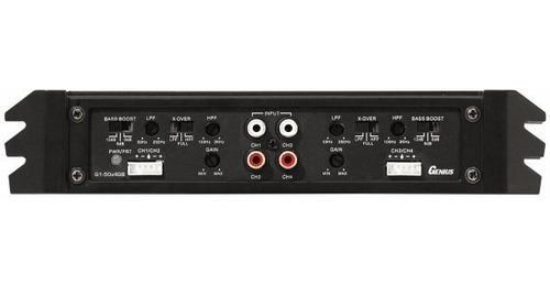 amplificador planta genius 750 watts 4 canales nuevo!