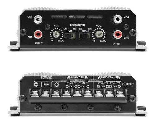 amplificador planta taramps ts-400x4 2 oh  x4 canales 400w