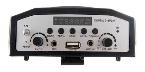 amplificador portatil con microfono  usb radio fm pa-903u