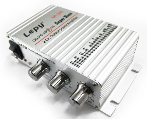 amplificador potencia auto 12v 20wrms aux