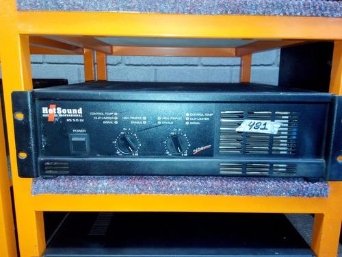 amplificador potencia hotsound hs 5.0 sx - cl audio-88