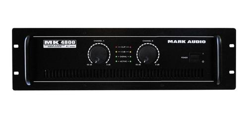 amplificador potencia mark audio mk4800 800w rms mk 4800