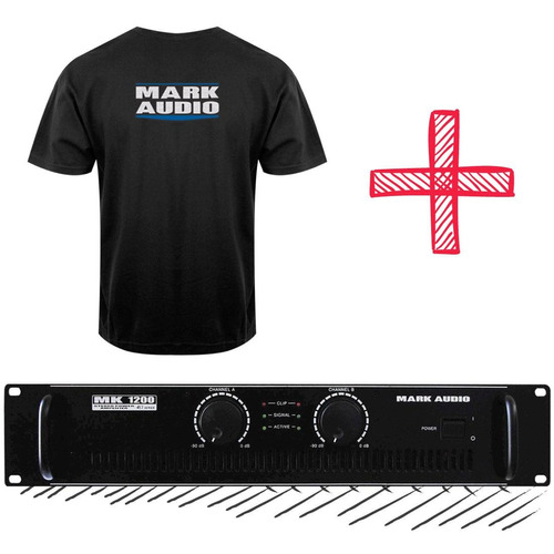 amplificador potência 200w mark áudio mk 1200 edição limitad