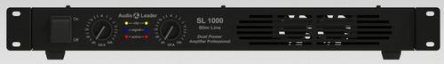 amplificador potência audio leader slim 1000 watts rms