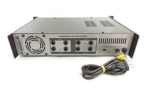 amplificador potência datrel pa1200 (100+100)w