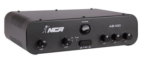 amplificador potência nca ab100 r4 100wrms envio imediato!