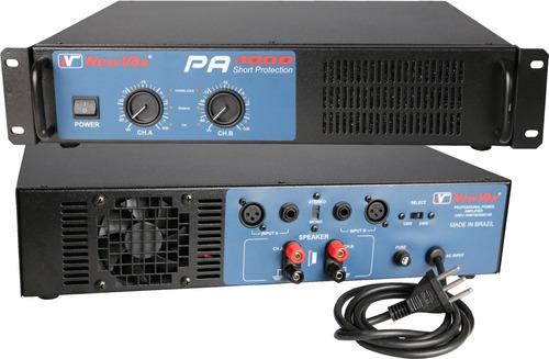amplificador potência new vox pa4000 2000w rms magazine som