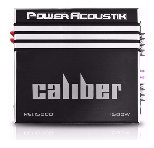 amplificador power acoustik re1-1500d 1 ch clase d 1500w max
