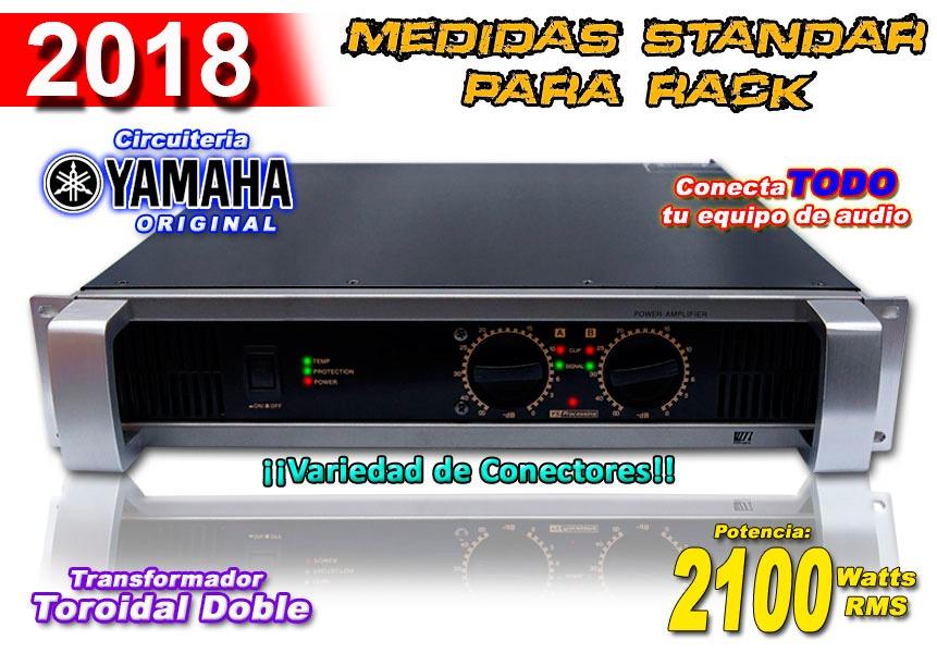 Amplificador Power Max 2100 W Audio Y Dj Circuiteria Yamaha