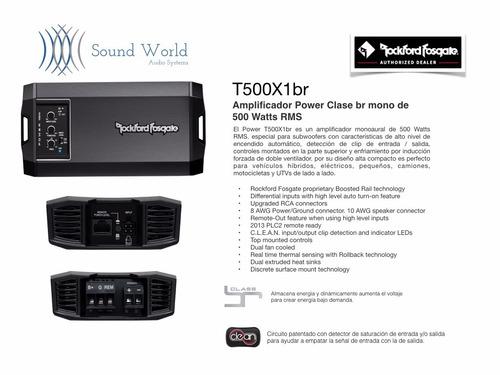 amplificador power mini rockford fosgate 1 canal 500 watts