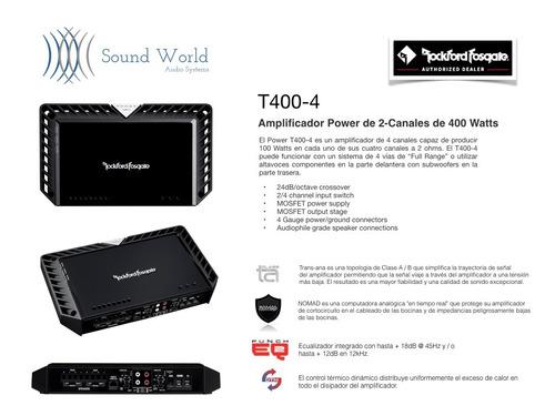 amplificador power rockford fosgate 4 canales 400 watts rms