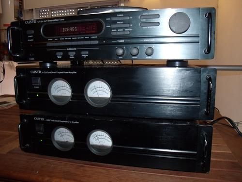 amplificador pre y 2 pote c/radio carver unico 350 w u.s.a