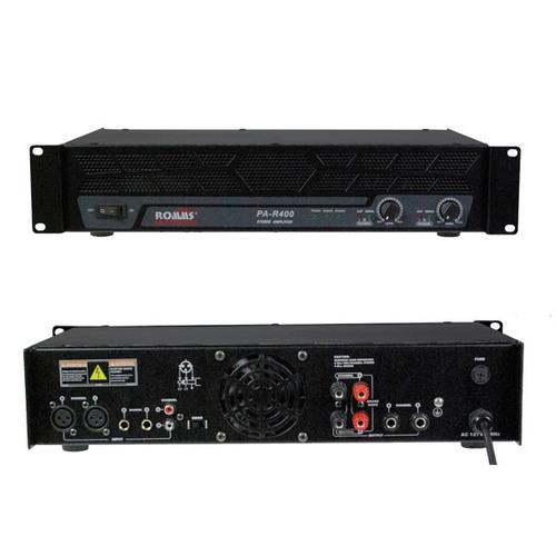 amplificador profesional de potencia 400w rms toroidal