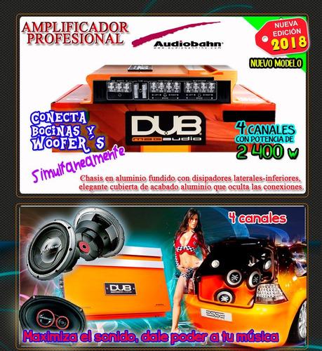 amplificador profesional  dub audiobahn 2400w 4ch p/bocinas