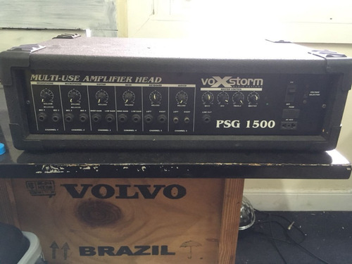 amplificador profissional voxstron psg 1500 -  6 canais 150w
