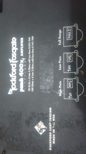 amplificador punch 400 rockford fosgate trans.ana preto
