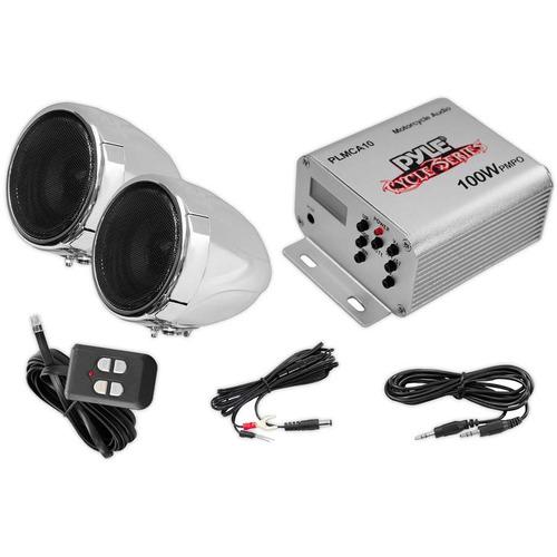 amplificador pyle plmca10 para motocicletas atv motos de