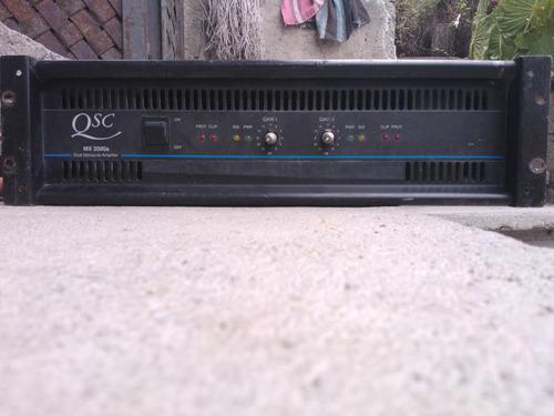 amplificador qsc 2000  mxa