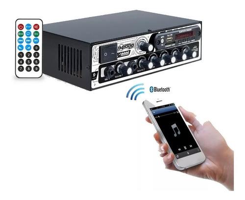 amplificador receiver boog usb bluetooth som ambiente 300w