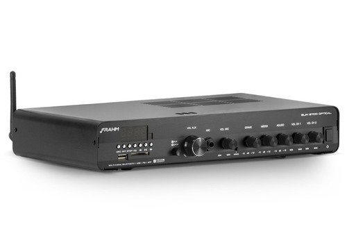 amplificador receiver frahm slim 3700 optical app/bt/usb/sd