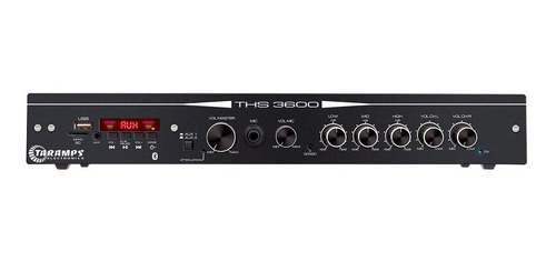 amplificador receiver res. taramps ths 3600 120w rms full