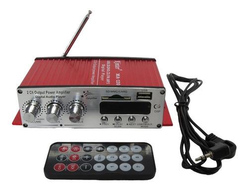 amplificador receiver usb bluetooth som ambiente sd radio fm