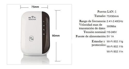 amplificador repetidor wifi inalámbrico rompemuros 300mbps