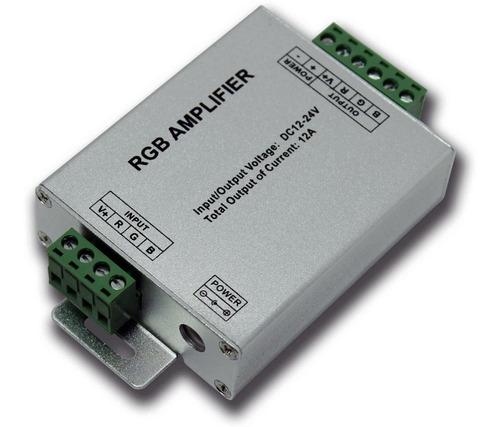 amplificador rgb 12-24v 3 canales 4a tira rgb módulo
