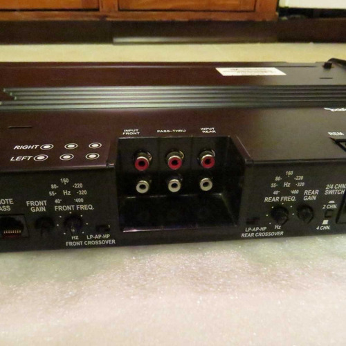 amplificador rockford fosgate p4004 punch series 4-channel c