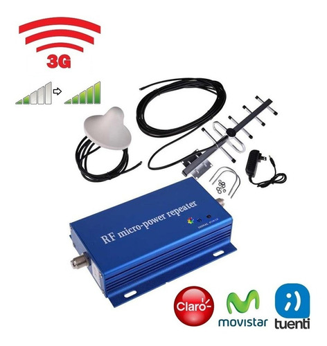 amplificador señal celular 3g 850 mhz 60db gsm claro movi