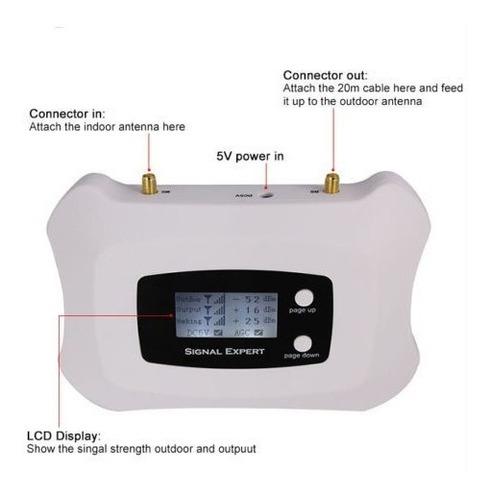 amplificador señal celular 4g 2100mhz 70db + 25dbi claro cnt