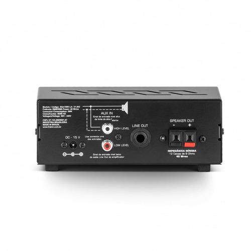 amplificador slim 1000 la g2 frahm 40w rms bivolt automático