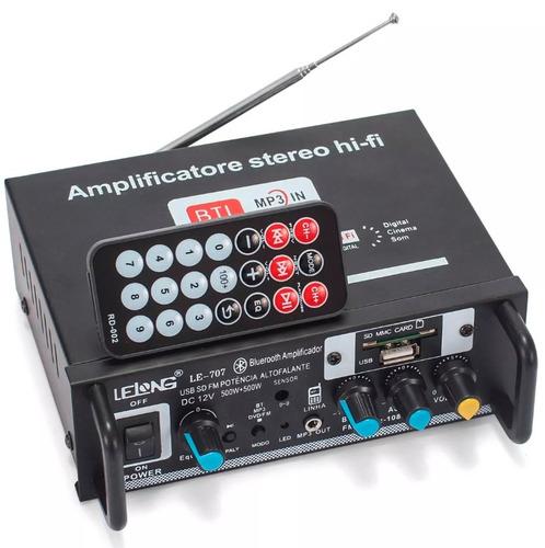 amplificador som ambiente usb bluetooth receiver audio fm