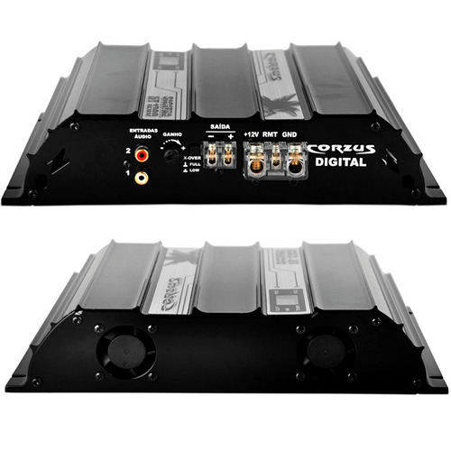 amplificador som corzus modulo 1200w
