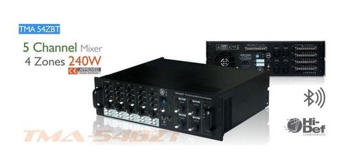 amplificador sonido ambiental 4 zonas bluetooth multizonas