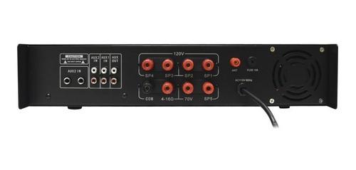 amplificador sonido ambiental 5 zonas bluetooth usb