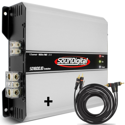 amplificador soundigital sd2500.1 - 2500w rms 1 canal