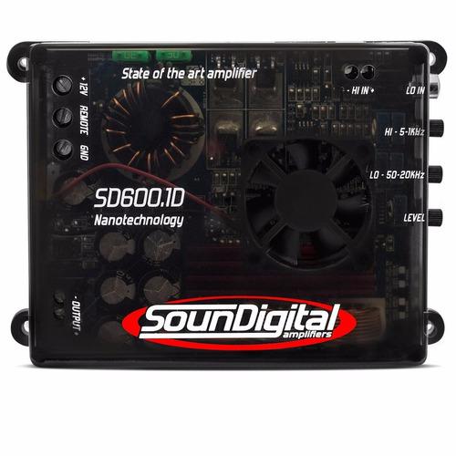 amplificador soundigital sd600.1d modulo 600w rms 1 ohms