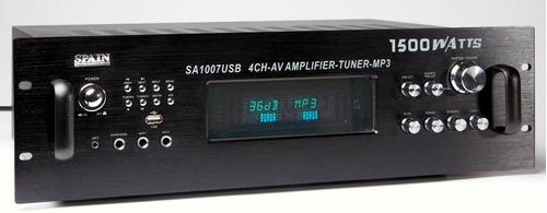amplificador spain sa 1007 usb con tuner de 1500 wats